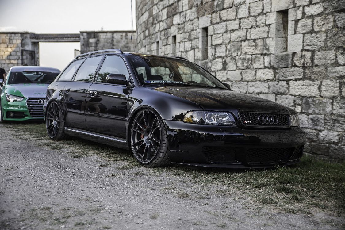 Black Audi Gold Rims