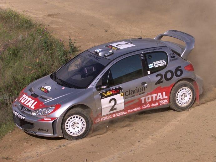 2000. WRC Drivers' Title Marcus Grönholm Peugeot 206 WRC 2000. WRC Manufacturers' Title Peugeot 206 WRC