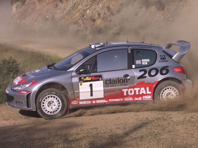2001. WRC Manufacturers' Title Peugeot 206 WRC 2001. WRC Drivers' Title Richard Burns Subaru Impreza WRC 2001