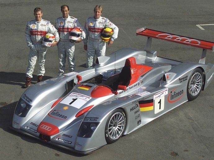 2001. Le Mans' Winner Audi Sport Team Joest Frank BielaTom KristensenEmanuele Pirro