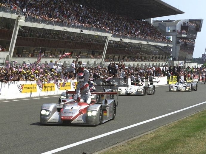 2002. Le Mans' Winner Audi Sport Team Joest Frank BielaTom KristensenEmanuele Pirro