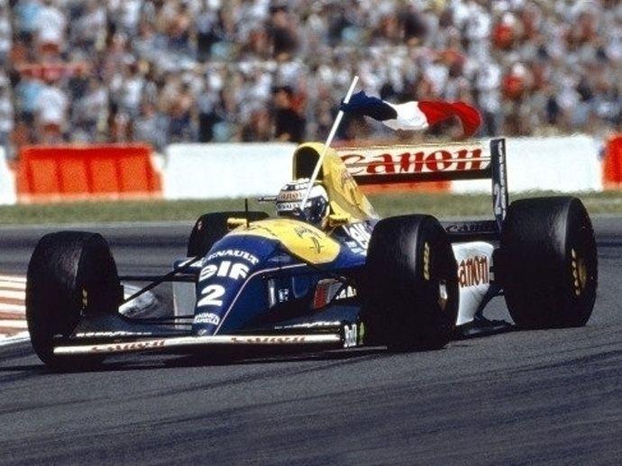 1993 OZ avec Alain Prost sur une Williams a remporté son premier championnat de F1