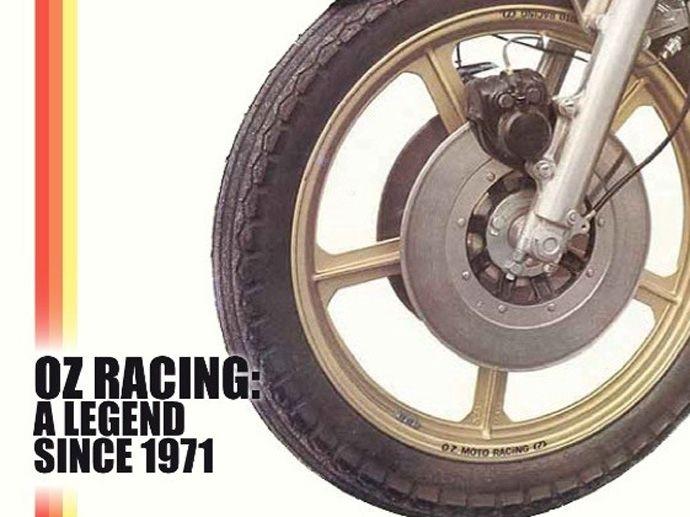 1972. OZ fait ses débuts dans le monde des motos avec les premières jantes de moto OZ.
