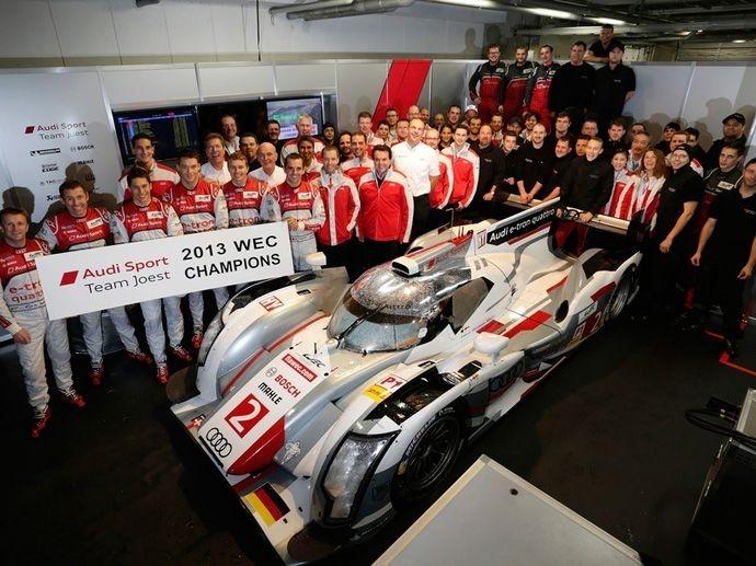 2013. WEC Audi Sport Allan McNishTom KristensenLoïc Duval