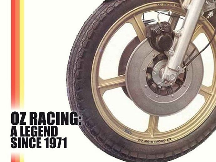 1972. OZ debuts in the motorcycle world with the first OZ moto wheels.