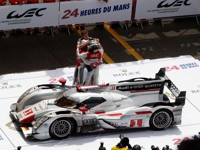 2012. 80. výročí závodu v Le Mans zdobí Audi jedoucí na kolech OZ svým již 11. vítězstvím.
