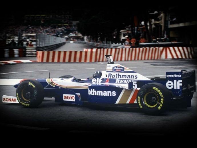 1996. OZ med Damon Hill's Williams vinner sitt andra F1-mästerskap. F1