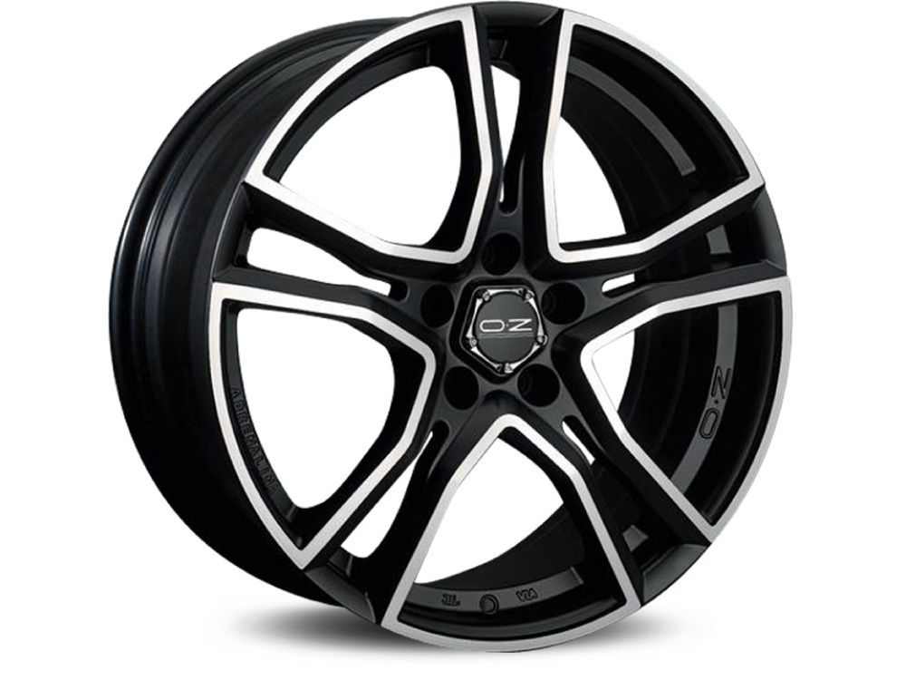 FELGE OZ ADRENALINA 7X16 ET37 4X100 68 MATT BLACK DIAMOND CUT TUV/NAD