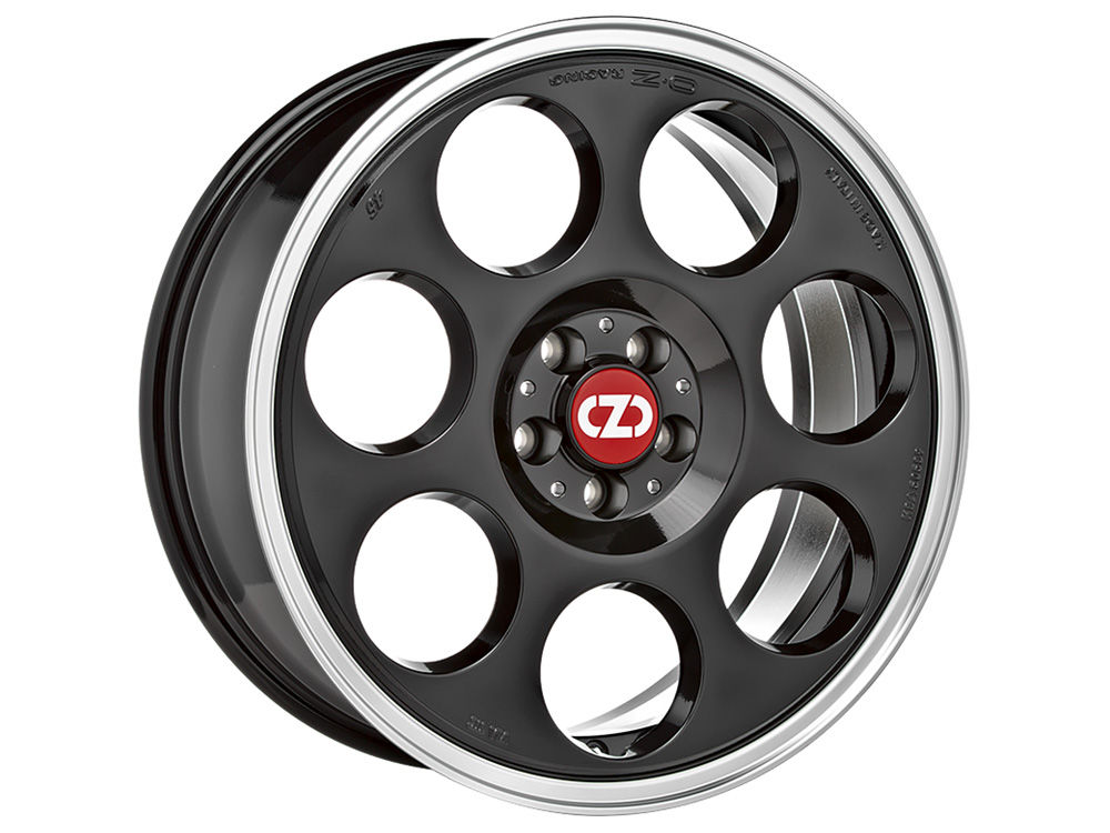 CERCHIO OZ ANNIVERSARY 45 7X17 ET35 4X 98 58,06 BLACK DIAMOND LIP