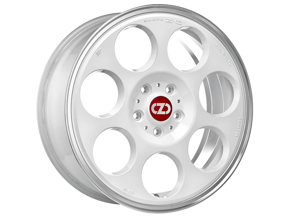 CERCHIO OZ ANNIVERSARY 45 7X17 ET35 4X 98 58,06 RACE WHITE DIAMOND LIP