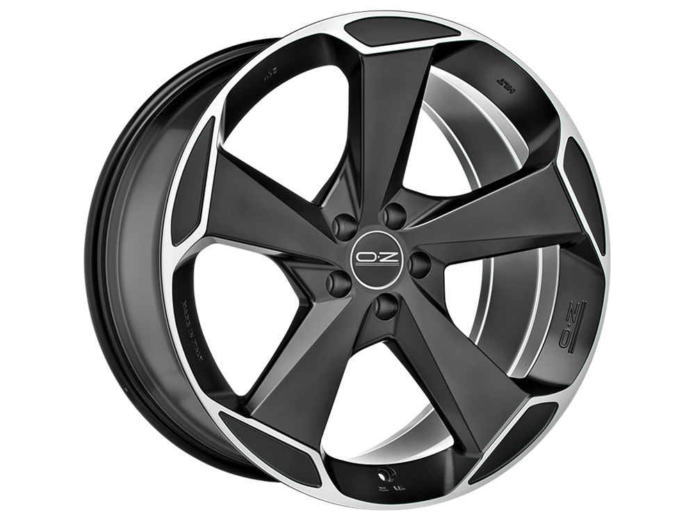 DISK OZ ASPEN HLT 9X21 ET38,5 5X108 63,4 MATT BLACK DIAMOND CUT