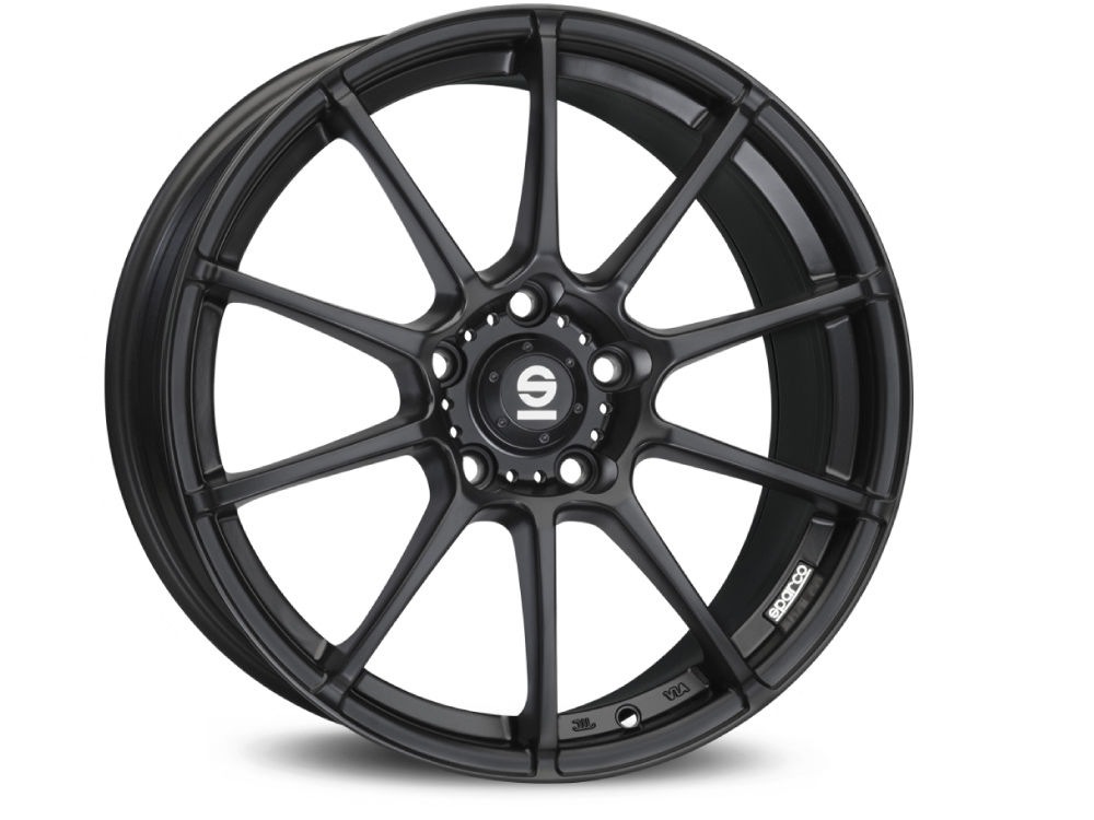 WHEEL SPARCO WHEELS ASSETTO GARA 7X17 ET37 4X100 63,3 MATT BLACK TUV/NAD