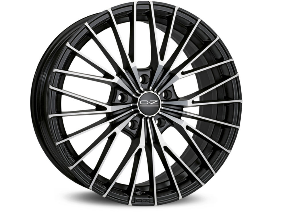 CERCHIO OZ EGO 8X18 ET45 5X108 75 MATT BLACK DIAMOND CUT TUV/NAD