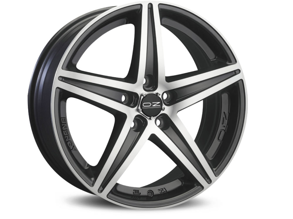 DISK OZ ENERGY 8X19 ET45 5X108 75 MATT BLACK DIAMOND CUT