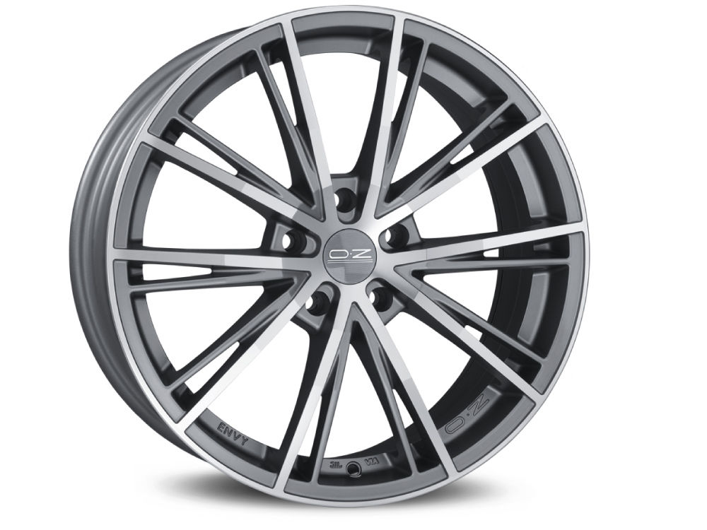 WHEEL OZ ENVY 8X18 ET45 5X108 75 MATT SILVER TECH DIAMOND CUT