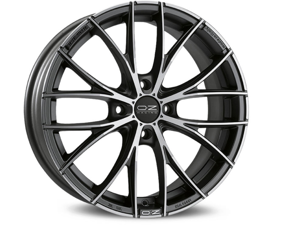 CERCHIO OZ ITALIA 150 4F 7X17 ET37 4X 98 68 MATT DARK GRAPHITE DIAMOND CUT TUV/NAD