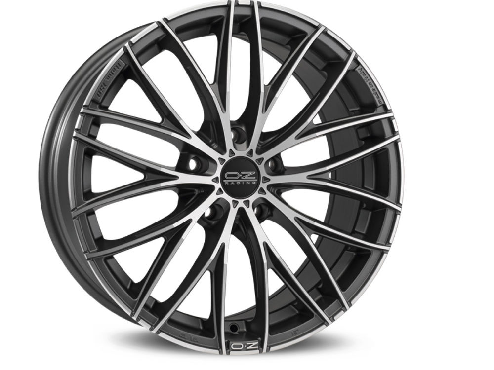 CERCHIO OZ ITALIA 150 8X18 ET45 5X108 75 MATT DARK GRAPHITE DIAMOND CUT TUV/NAD