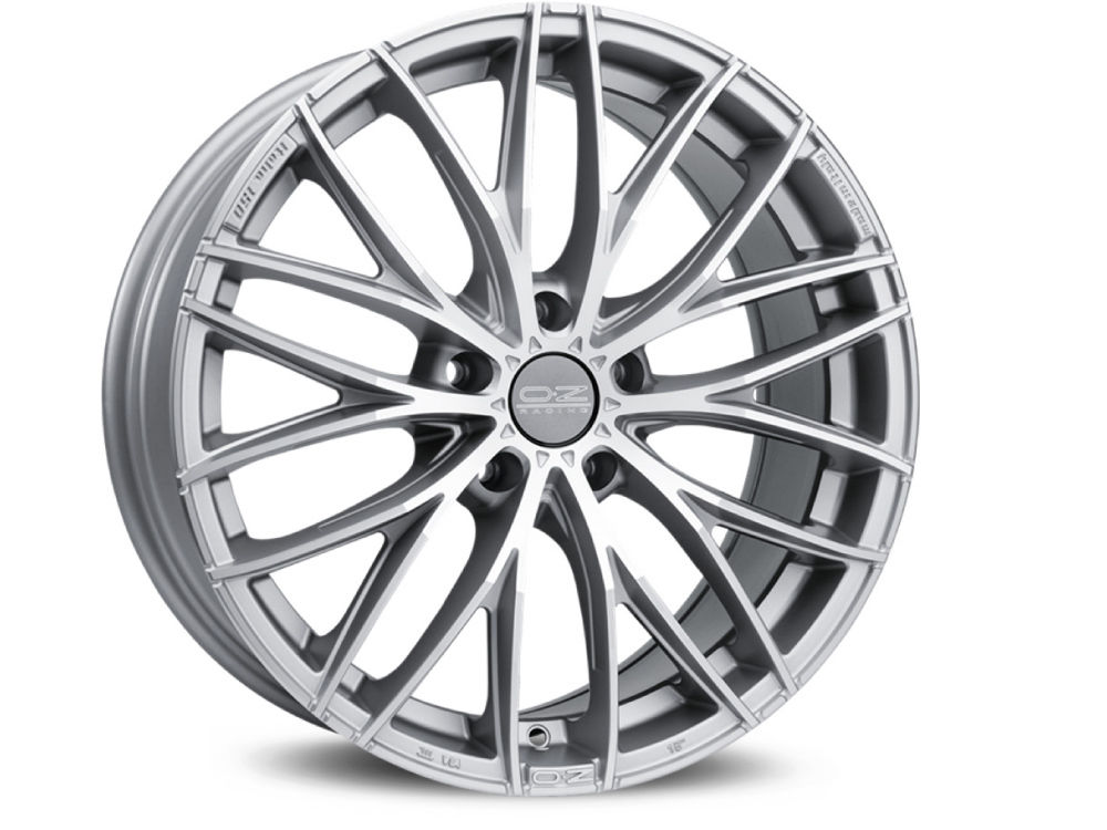 CERCHIO OZ ITALIA 150 8X19 ET45 5X108 75 MATT RACE SILVER DIAMOND CUT TUV/NAD