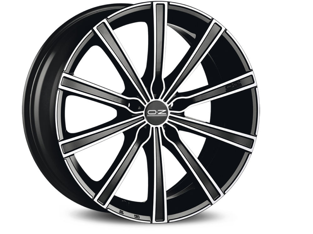 DISK OZ LOUNGE 10 7X16 ET45 5X114,30 75 MATT BLACK DIAMOND CUT TUV/NAD