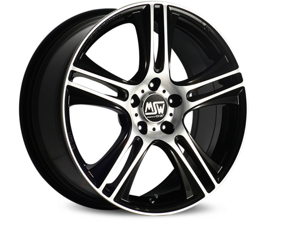 WHEEL MSW MSW 11 7X16 ET40 5X108 73 BLACK FULL POLISHED (GBFP) TUV/NAD