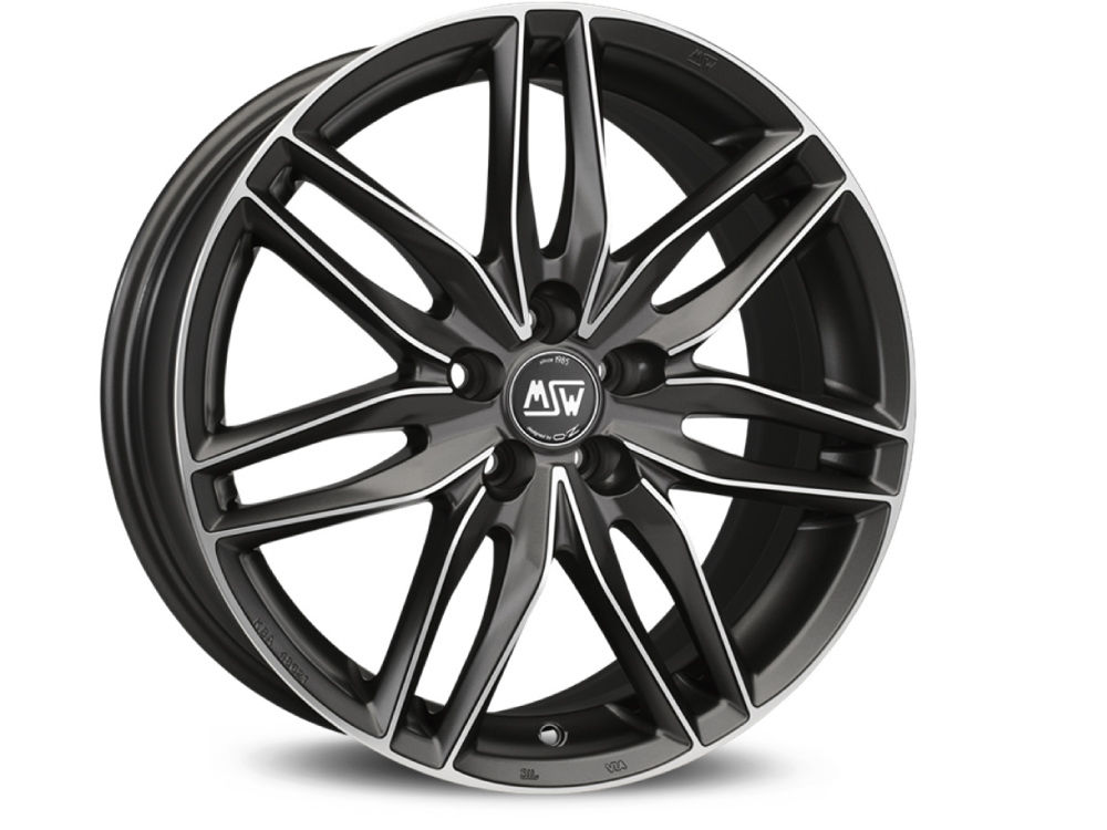 WHEEL MSW MSW 24 6,5X15 ET42 4X108 63,4 MATT GUN METAL FULL POLISHED (MGMFP) TUV/NAD