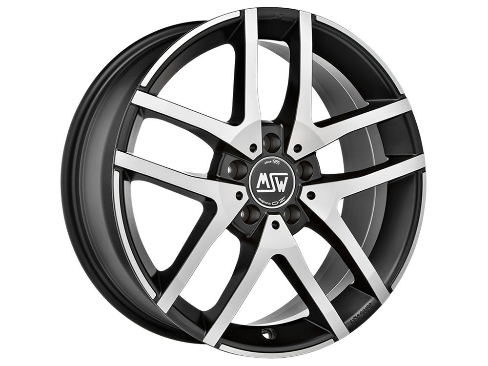 WHEEL MSW MSW 28 7X17 ET45 5X108 73 MATT BLACK FULL POLISHED