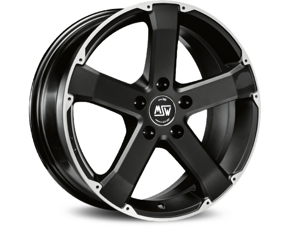 WHEEL MSW MSW 45 8X17 ET40 5X127  MATT BLACK FULL POLISHED TUV/NAD
