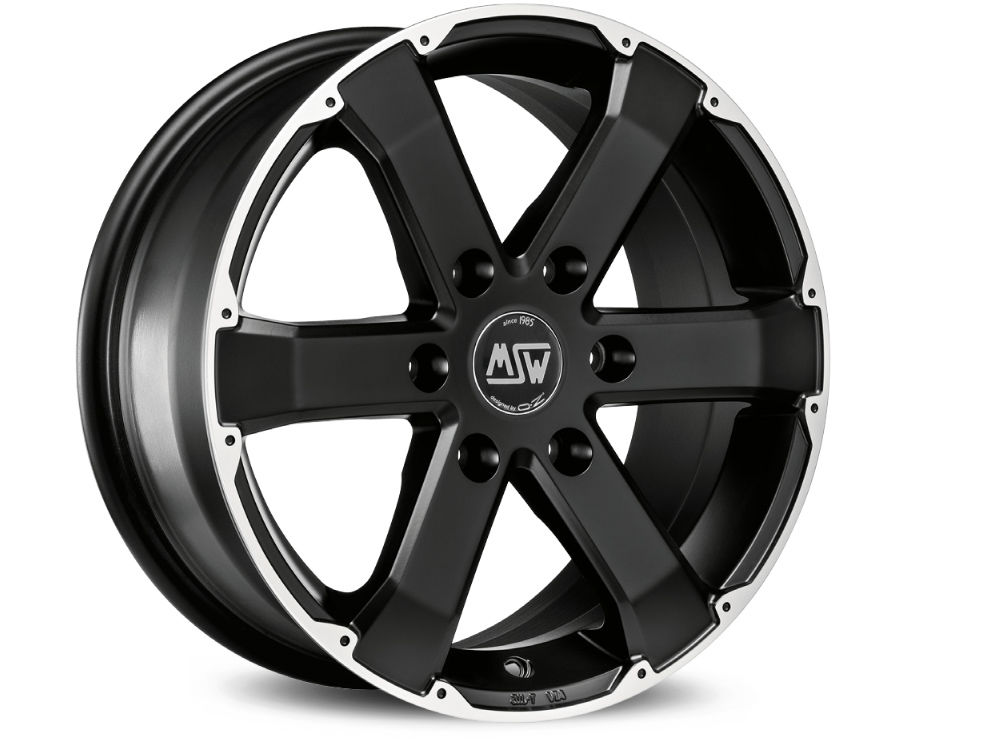 FELGE MSW MSW 46 7,5X17 ET50 6X139,70  MATT BLACK FULL POLISHED TUV/NAD