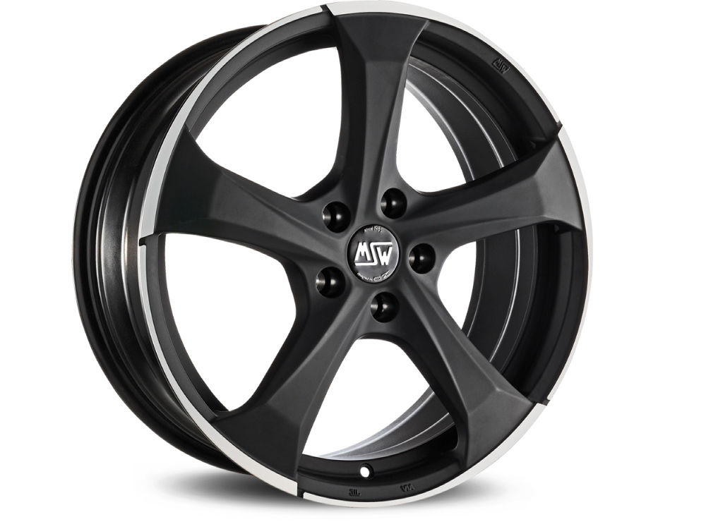 RIM MSW MSW 47 8X18 ET38 5X105 56,56 MATT DARK TITANIUM FULL POLISHED TUV/NAD