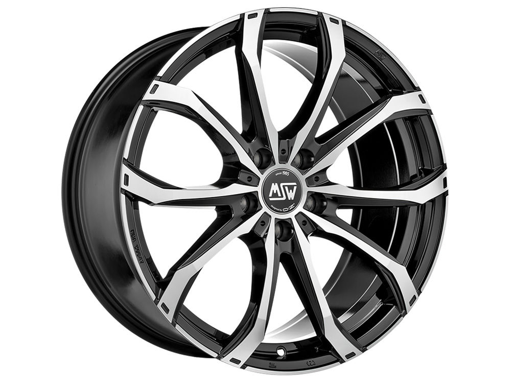 WHEEL MSW MSW 48 8,5X20 ET50 5X127 71,56 BLACK FULL POLISHED (GBFP) TUV/NAD