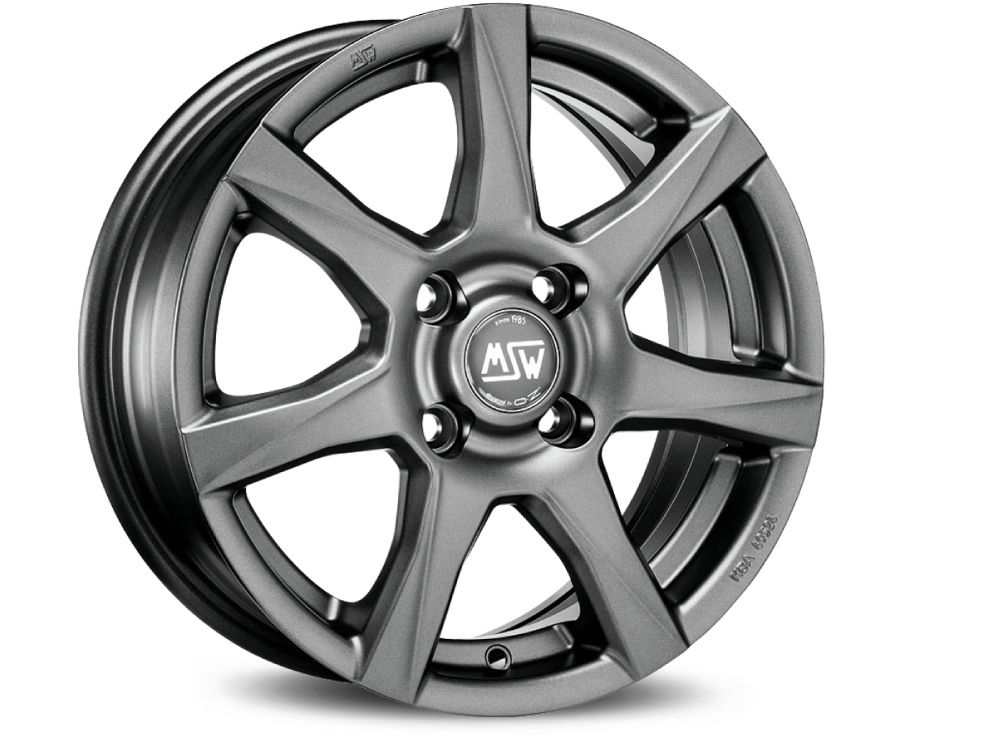 WHEEL MSW MSW 77 7,5X17 ET50 5X108 63,34 MATT DARK GREY TUV/NAD