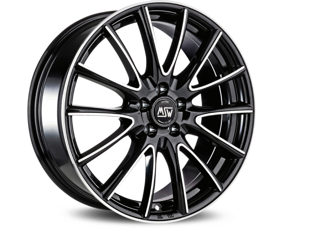 FELGE MSW MSW 86 6,5X16 ET37 4X100 63,3 BLACK FULL POLISHED (GBFP) TUV/NAD