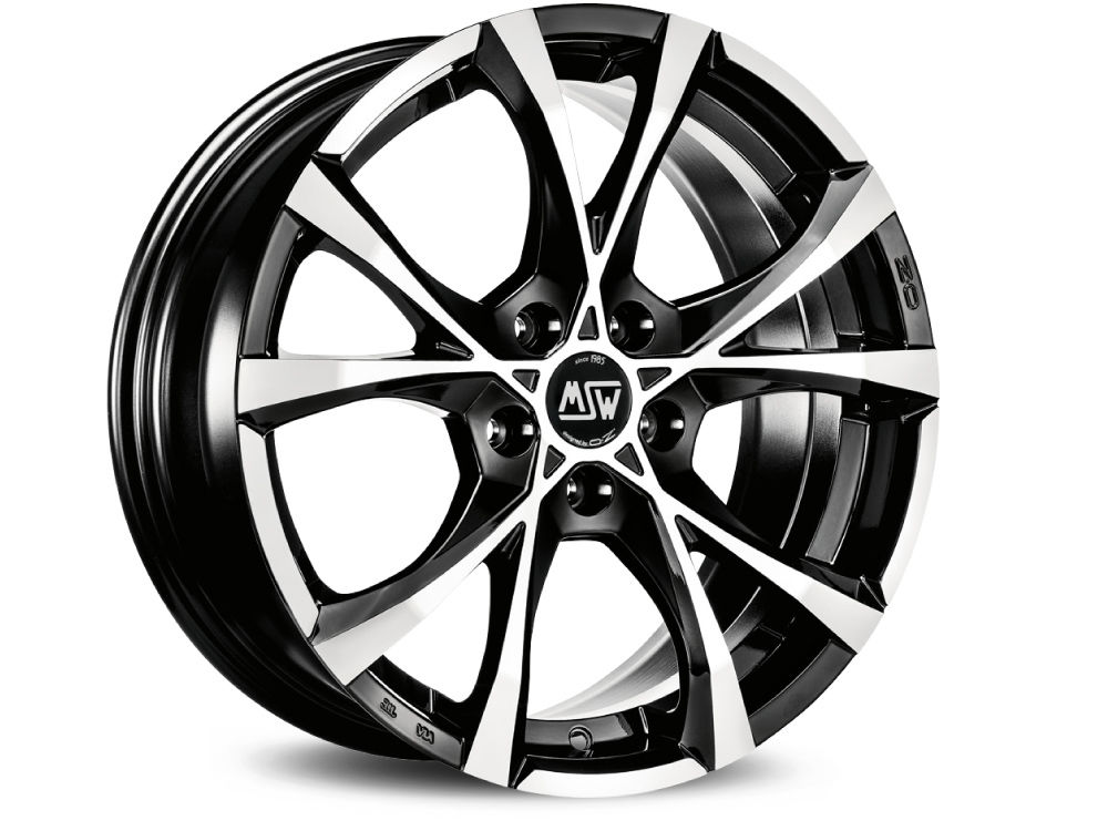 FELGE MSW CROSS OVER 7X16 ET45 5X108 73 BLACK FULL POLISHED (GBFP) TUV/NAD