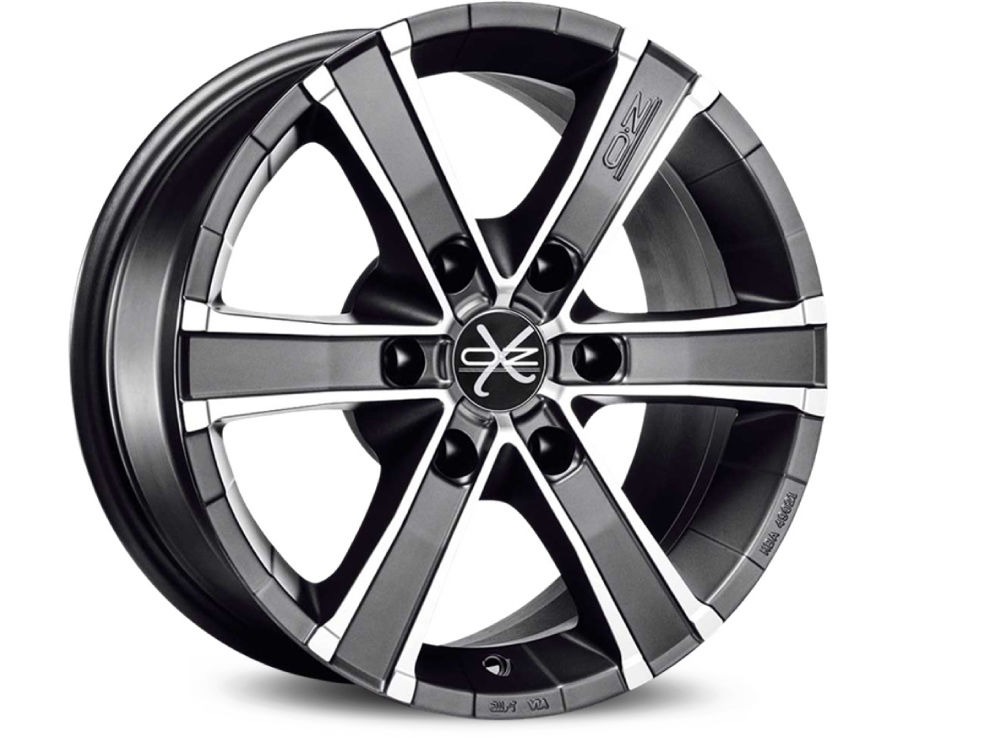 CERCHIO OZ SAHARA 6 8X17 ET30 6X114,30 66,1 MATT GRAPHITE DIAMOND CUT TUV/NAD