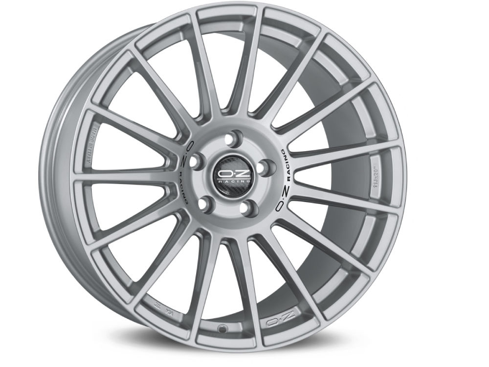 WHEEL OZ SUPERTURISMO DAKAR 8,5X20 ET40 5X108 75 MATT RACE SILVER BLACK LETTERING