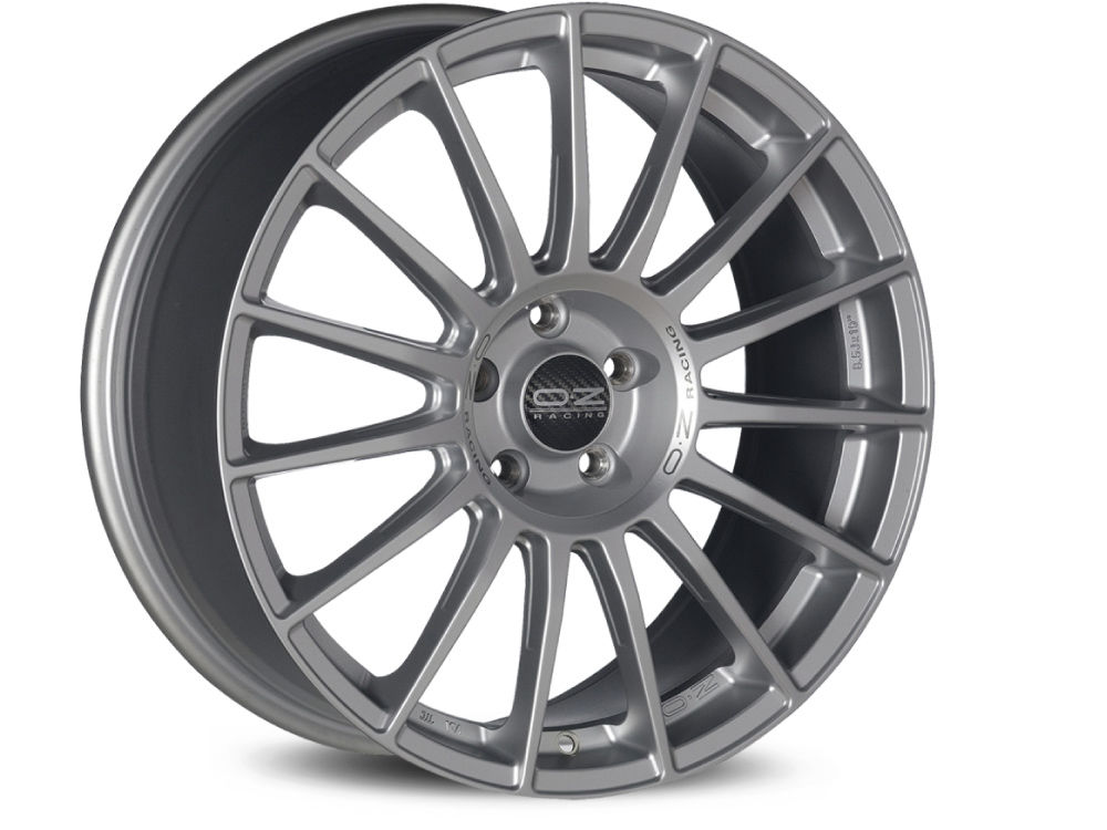 WHEEL OZ SUPERTURISMO LM 9X21 ET45 5X108 75 MATT RACE SILVER BLACK LETTERING TUV/NAD