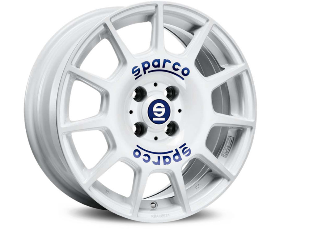 DISK SPARCO WHEELS SPARCO TERRA 7,5X17 ET40 5X105 56,56 WHITE BLUE LETTERING TUV/NAD