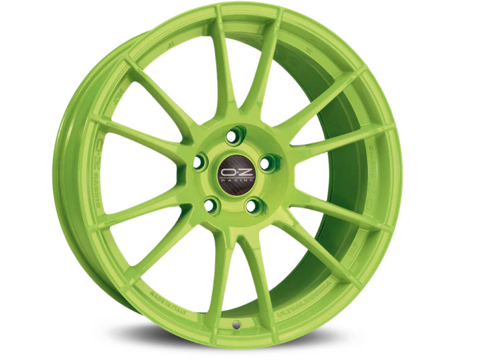 DISK OZ ULTRALEGGERA HLT 9X19 ET42 5X112 75 ACID GREEN