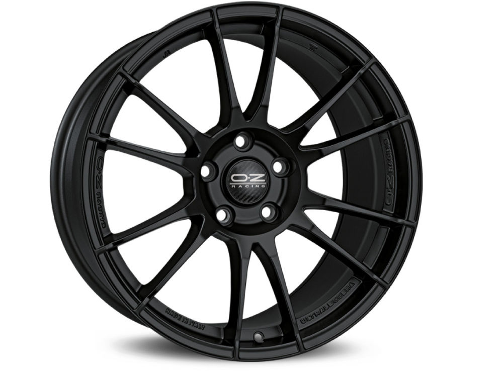CERCHIO OZ ULTRALEGGERA 8X18 ET38 5X110 75 MATT BLACK TUV/NAD