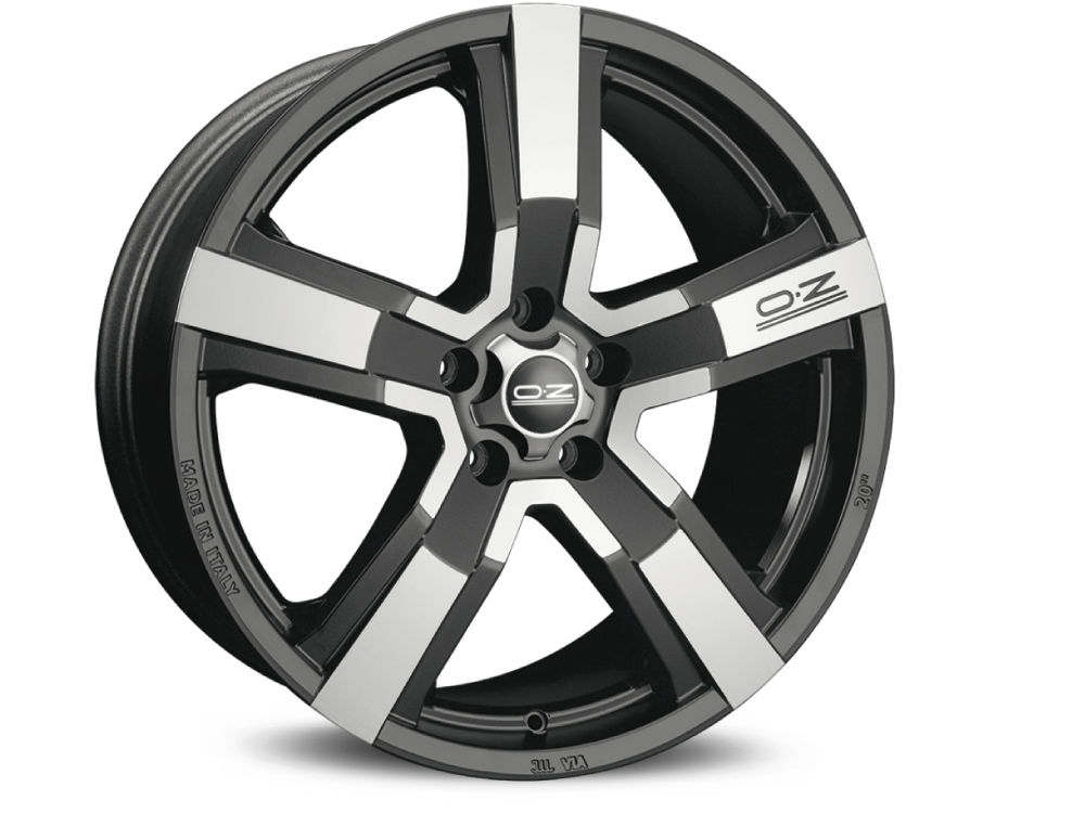 RIM OZ VERSILIA 8X18 ET45 5X108 75 MATT BLACK DIAMOND CUT