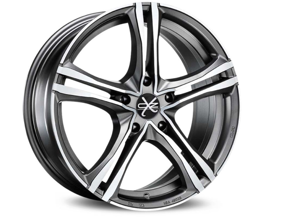 JANTE OZ X5B 7,5X17 ET40 5X115 70,2 MATT GRAPHITE DIAMOND CUT TUV/NAD